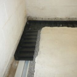 Weep Holes Drilled in Block Basement Walls | Interior Waterproofing | SouthernDry Alabama
