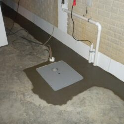 Square Sump Pump Basin Installed | SouthernDry of Alabama