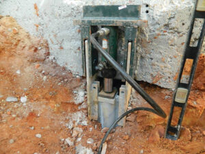 Concrete Structural Piering Step 1 | Helical Pier | SouthernDry | Alabama Foundation Repair