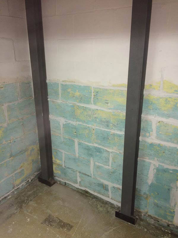 After Leaning Wall Repair | Basement I Beam | Birmingham Alabama Foundation Repair