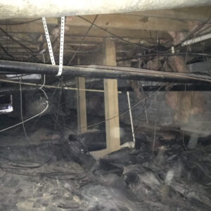 Before Crawl Space Encapsulation | High Humidity | Birmingham Alabama