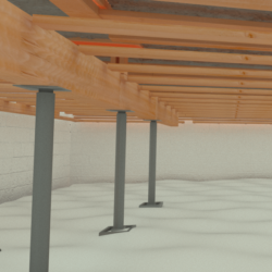 crawl space support posts