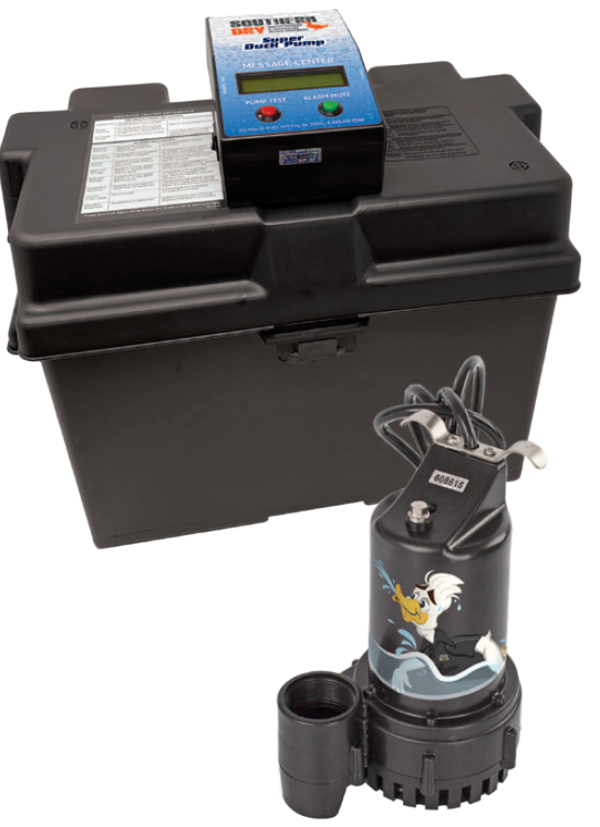 sump pump with battery backup system from SouthernDry