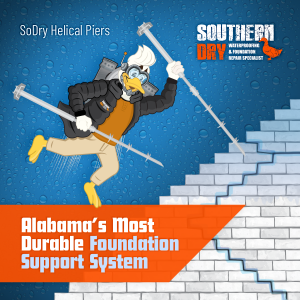 helical pier foundation repair support graphic