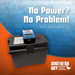 Basement Dehumidifier with Battery Backup