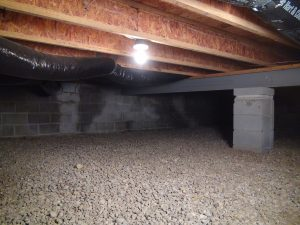 house leveling project for crawl space home